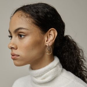 Oak + Fort | Two-Tone Curved Earrings